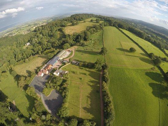 Hillside Brewery wedding venue aerial shot